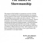 Basics of Showmanship – PDF