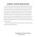 Gospel Newspaper Magic – PDF