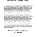 Impromtu Gospel Magic – PDF