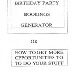 Birthday Party Generator – PDF