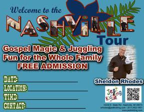 Nashville Tour Postcard sm