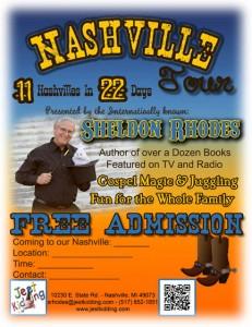 Nashville Tour Poster